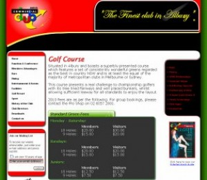 commercial golf club albury